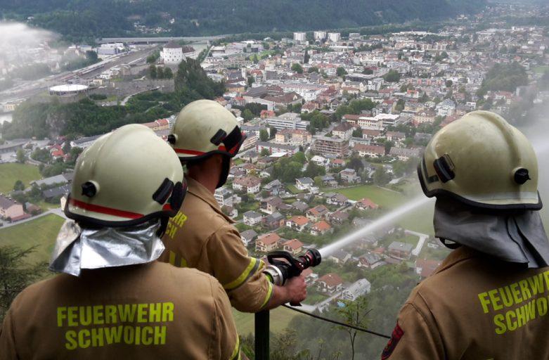 Gemeinschaftsübung bei der FF-Kufstein