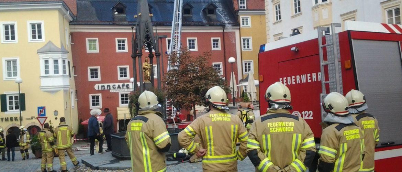 Gebäudebrand Inncafe Hell in Kufstein