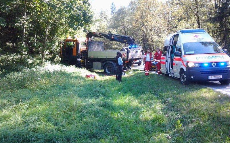 Einsatz Verkehrsunfall Eiberg Bundesstraße B173