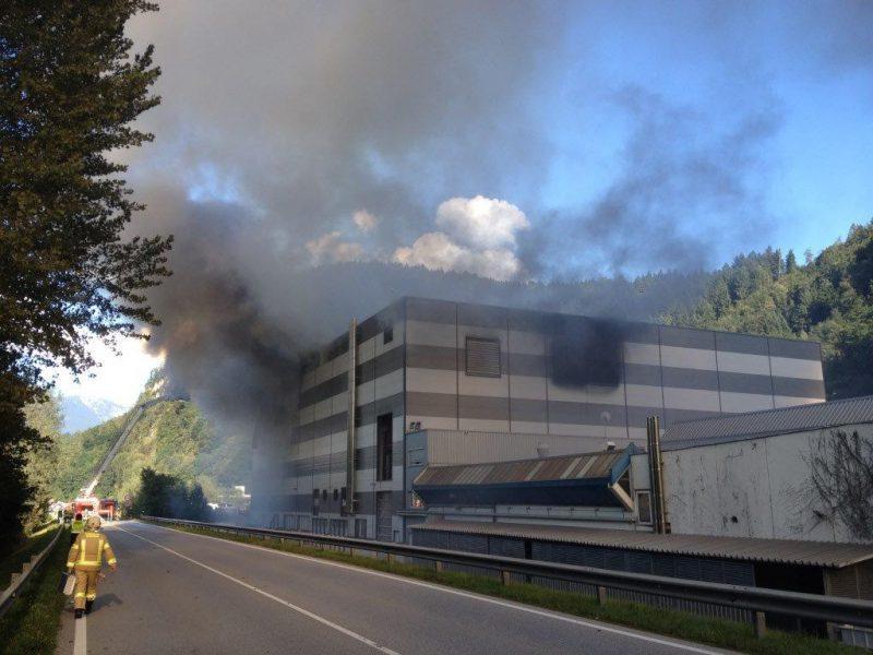 Großbrand Metallveredelung Huber